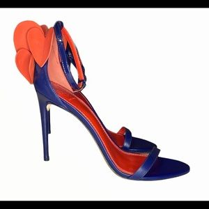 Blue Leather Tory Burch Sandals Heels 👠 Size 8.5